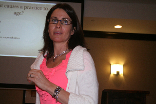 A Picture of Dana Teaching at the State Organization for Electrologist